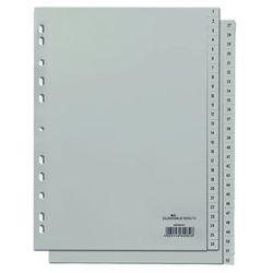 Przekładki do segregatora 1-52 Durable A4 szare 6504-10, 82669