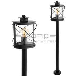 Eglo Słupek lampa stojąca hilburn 94844 zewnętrzna oprawa ogrodowa latarnia vintage klatka outdoor ip44 cza
