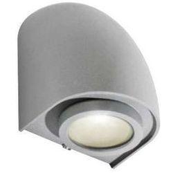 Zewnętrzna LAMPA elewacyjna FONS GM1108 BGR Azzardo ścienna OPRAWA ogrodowa KINKIET outdoor IP65 jasny szary