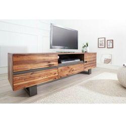 Invicta stolik rtv genesis 160 cm akacja - drewno naturalne, żelazo marki Sofa.pl
