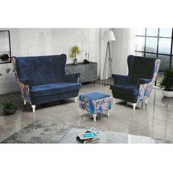 """Zestaw """"riki"""" sofa + fotel+podnóżek - zielony marki Sofa.pl"""