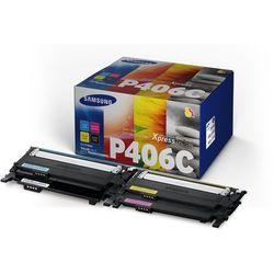 Samsung oryginalny toner CLT-P406C, CMYK, 4500s, Samsung CLP-360, CLP-365, CLX-3300, CLX-3305 (8806085816572)