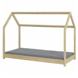 Drewniane łóżko dziecięce domek Olaf 90x200 - sosna