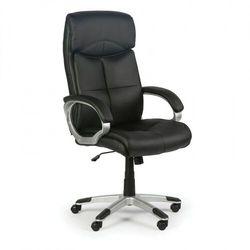 Foster skórzane krzesło biurowe, czarne marki B2b partner