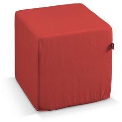 pufa kostka twarda, czerwony, 40x40x40 cm, loneta marki Dekoria