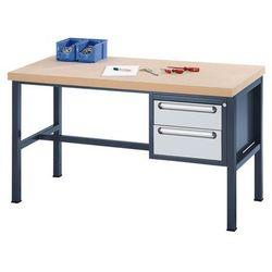 Stół warsztatowy z płytą MDF, 2 szuflady, wys. 1x150, 1x180 mm, wys. x szer. x g