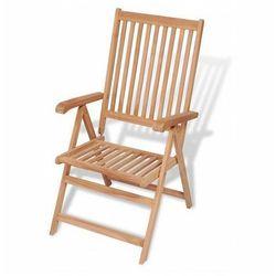 Drewniane krzesło ogrodowe onder - brązowe marki Producent: elior