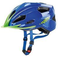 Kask rowerowy Uvex Quatro Junior niebiesko-zielony z kategorii Ochraniacze i kaski do sportów walki