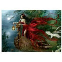 Piękność w czerwieni pośród łabędzi - 1000 elementów