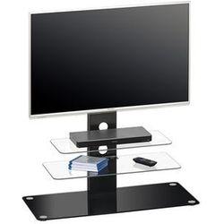 Stolik pod telewizor, 104 cm, czarny, szkło, 16419542