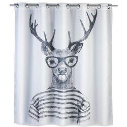 Zasłona prysznicowa Mr Deer, tekstylna, 180x200 cm, WENKO