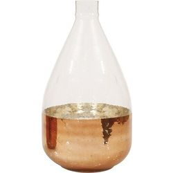Bloomingville Wazon butelka 36 cm miedziany szklany (5711173210176)