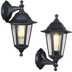 Lampa zewnętrzna ścienna New Haven góra i dół czarna z kategorii lampy ścienne