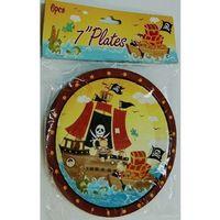 Talerzyki papierowe Piraci 6 sztuk