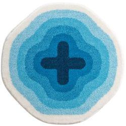 Grund Dywanik łazienkowy Karim 03, niebieski, Ø60 cm