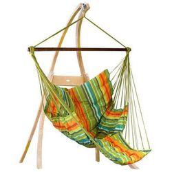 Zestaw hamakowy: fotel pikowany comfy ze stojakiem drewnianym atlas, kuna yala fotel comfy+stojak atlas marki La siesta