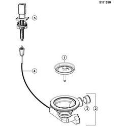 BLANCO Korek automatyczny z pokrętłem Levos stal chromowana 517547
