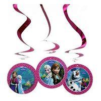 Dekoracja wisząca urodzinowa Frozen - Kraina lodu - 3 szt.