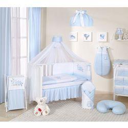 Mamo-tato pościel 13-el sówki uszatki błękitne do łóżeczka 70x140cm - moskitiera