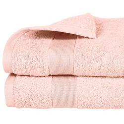 Ręcznik łazienkowy stworzony z bawełny w kolorze różowym