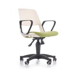 JUMBO fotel młodzieżowy HALMAR biało - zielony