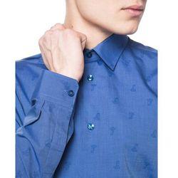 Versace Koszula Niebieski Wielokolorowy 40 - sprawdź w wybranym sklepie