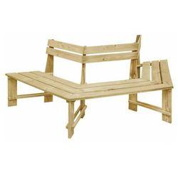 Drewniana ławka pod pień drzewa - Tiffany, vidaxl_49089