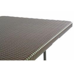 Zestaw ogrodowy z rattanowym wzorem - Stół + 2 Ławki - 180 cm.