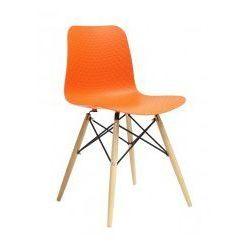 King home Krzesło drewniane krado dsw premium pomarańczowe - polipropylen, podstawa bukowa