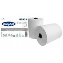 Bulkysoft Ręcznik papierowy w roli autocut 2 warstwy 250 m biały celuloza