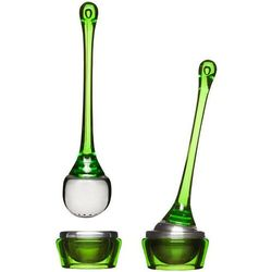 Zaparzaczka do herbaty z podstawką  zielona marki Sagaform