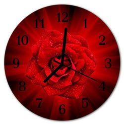Zegar ścienny okrągły Róża