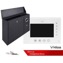 Zestaw VIDOS skrzynka na listy z wideodomofonem. Monitor 7'' S551-SKN_M670W-S2
