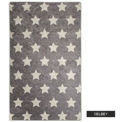 SELSEY Dywan do pokoju dziecięcego Dinkley Yildiz szary 100x160 cm