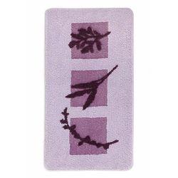 Dywaniki łazienkowe z roślinnym motywem lila marki Bonprix
