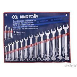 King tony Zestaw kluczy płasko-oczkowych 16cz. calowe 1/4