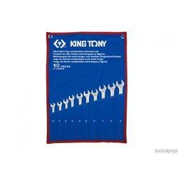 ZESTAW KLUCZY PŁASKO-OCZKOWYCH WYDŁUŻONYCH 10cz. 10 - 19mm King Tony 12A0MRN
