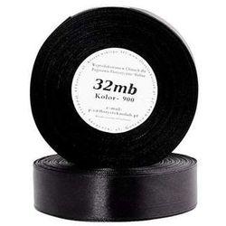 Wstążka satynowa 12mm/32mb czarna - produkt z kategorii- Pozostałe artykuły szkolne i plastyczne