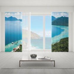 Zasłona okienna na wymiar komplet - LAGOON SCENERY