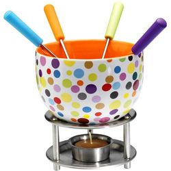 Zestaw do czekoladowego fondue Mastrad kolorowe kropki - produkt z kategorii- Fondue