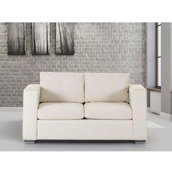 Skórzana sofa dwuosobowa bezowa - kanapa - HELSINKI - oferta [15aa6e241525b65f]