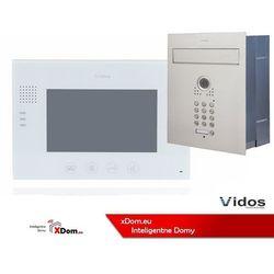 Vidos Zestaw jednorodzinny wideodomofonu . skrzynka na listy z wideodomofonem. monitor 7'' s561d-skp_m670w
