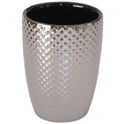 Kubek łazienkowy YOKA HOME Dots Srebrny
