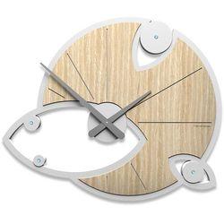 Zegar ścienny Andromeda Swarovski CalleaDesign jasny dąb