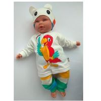 Komplet papużka bluzka spodenki czapka rozm. 62 marki Beyaz bebek