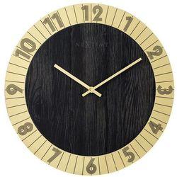 Zegar ścienny flare złoty marki Nextime