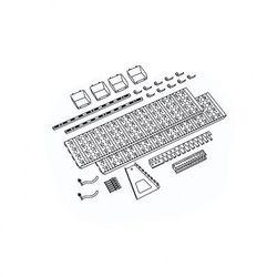 Panel na narzędzia i pojemniki, 19 uchwytów na narzędzia, 4 pojemniki (4006676033867)