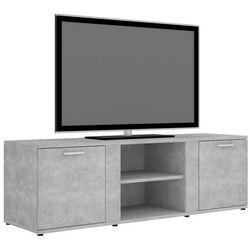 Vidaxl szafka pod tv, szarość betonu, 120x34x37 cm, płyta wiórowa