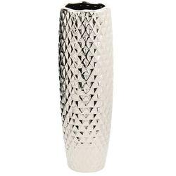 Dekoria wazon sigma ii 44cm silver, 14x14x44cm