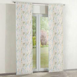 zasłony panelowe 2 szt., turkusowo-zielone łodyżki na białym tle, 60 x 260 cm, acapulco marki Dekoria